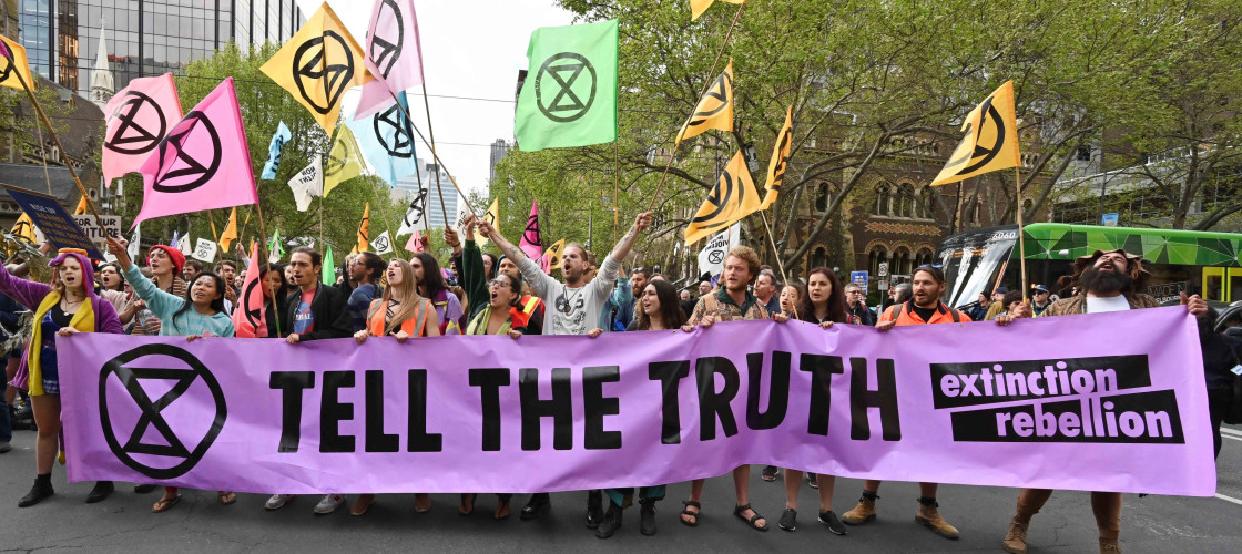 Extinction Rebellion protestors in London