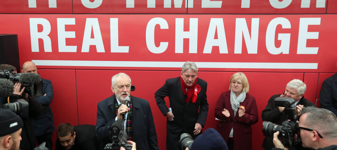 Jeremy Corbyn with Labour parliamentary candidate