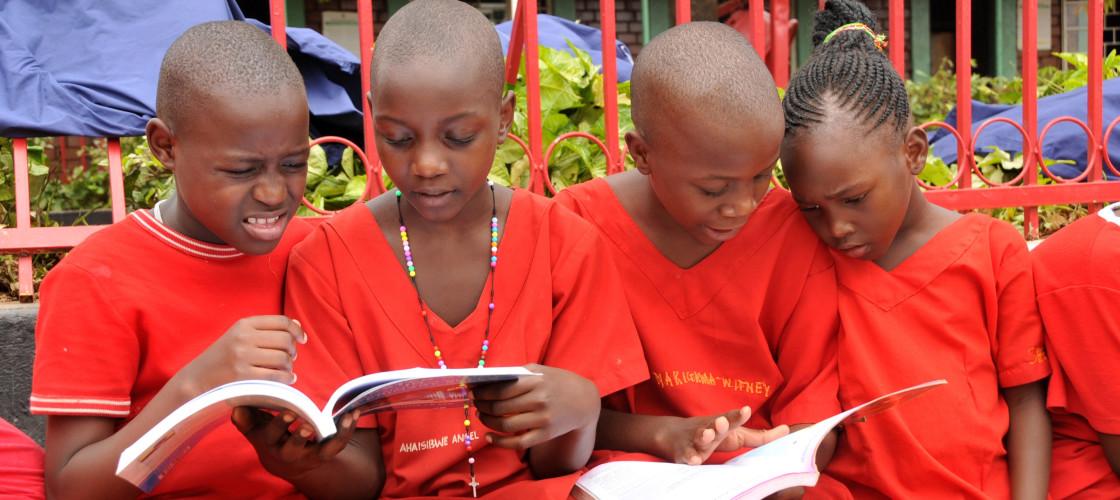 Children at school in Uganda