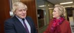 Boris Johnson and Hillary Clinton