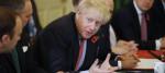 Boris Johnson addressing his Cabinet