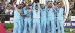England celebrate winning the ICC World Cup during the ICC World Cup Final at Lord's, London.