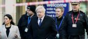 Home Secretary Priti Patel and Prime Minister Boris Johnson visit the site of the London Bridge attack