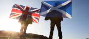 Scotland and UK flag