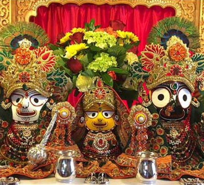 Lord Jagannatha, Lord Balarama and Lady Subhadra