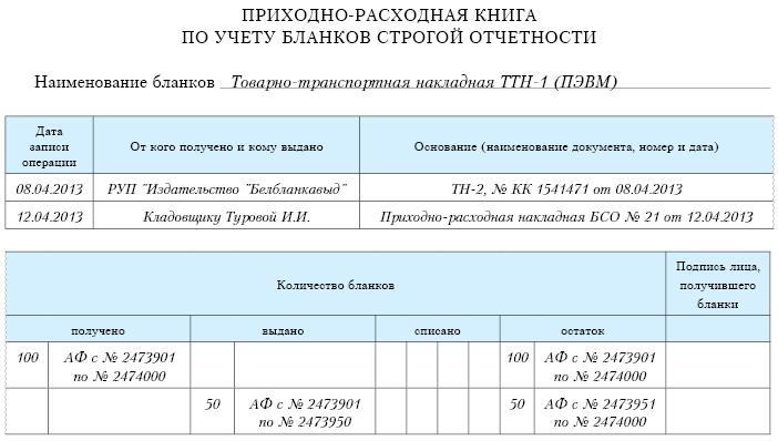 Учет денежных документов и бланков строгой отчетности