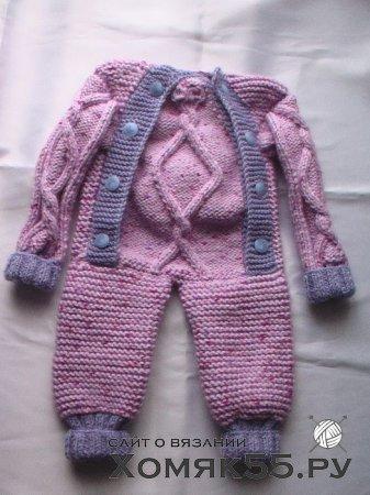 Схема вязания комбинезона для ребенка до года