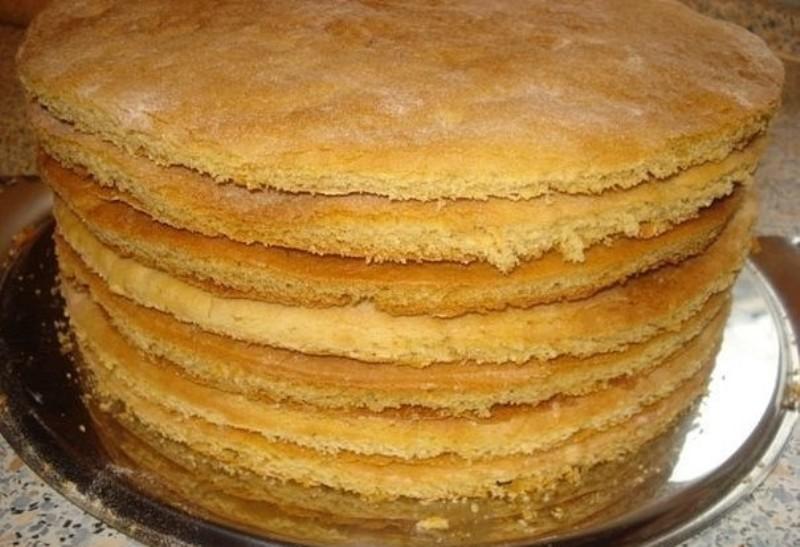 Рецепт простой рецепт коржей для торта
