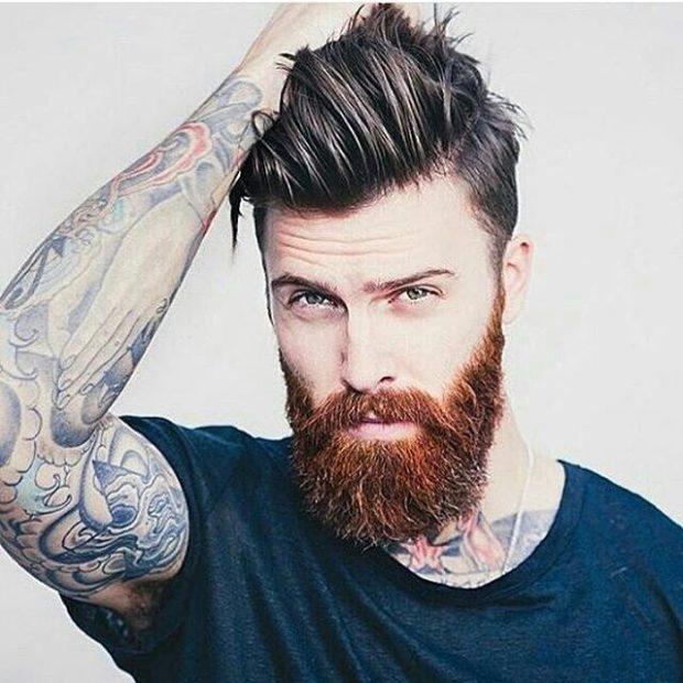 брутальная борода с усами