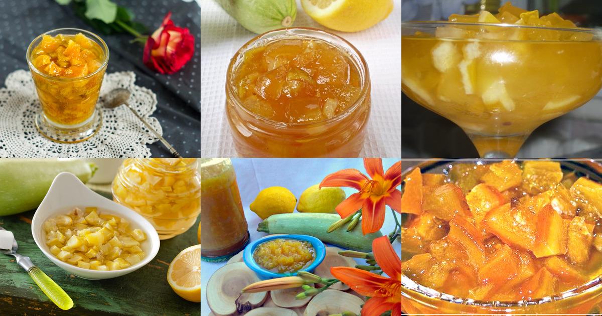 Кабачок с лимоном и сахаром