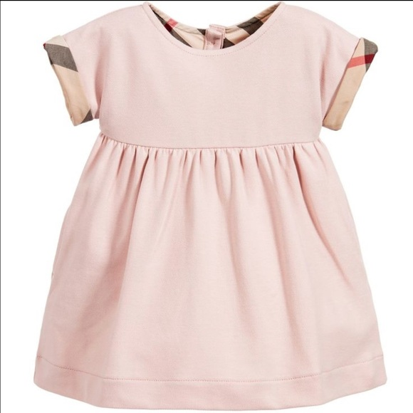 Burberry baby dresses pink