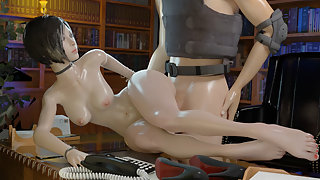 Resident Evil Ada Wong gets her sexy body fucked on desk