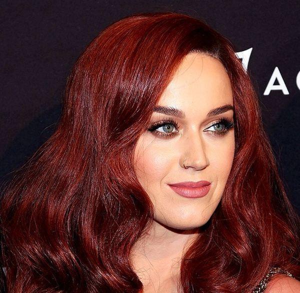 Каштаново красный цвет волос