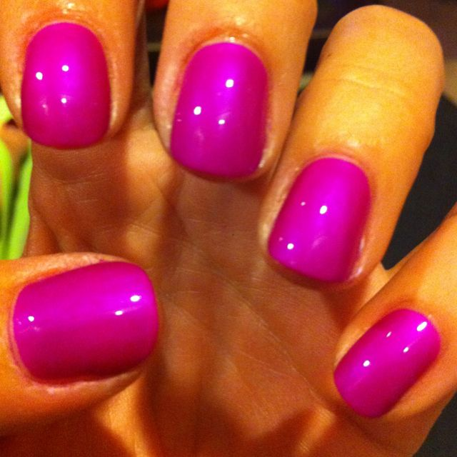 Fuschia nails