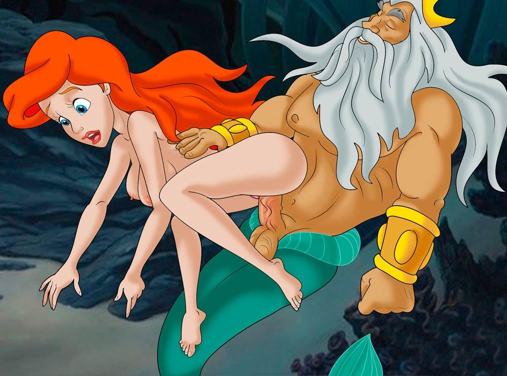 Порно мультфильм русалочка