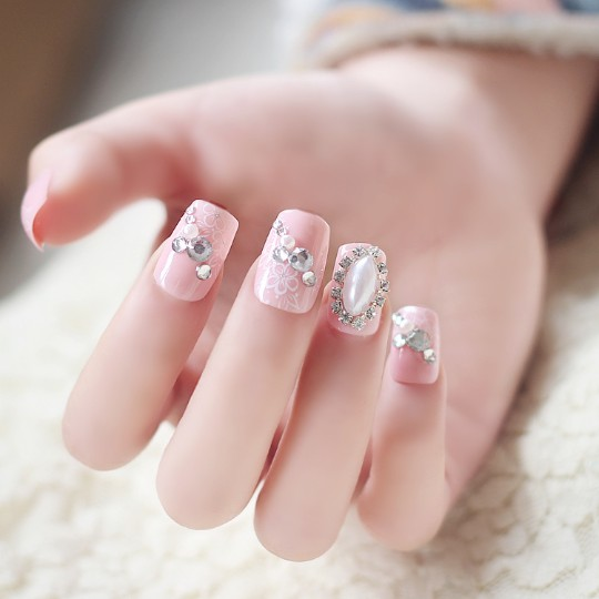 Gem-encrusted nails
