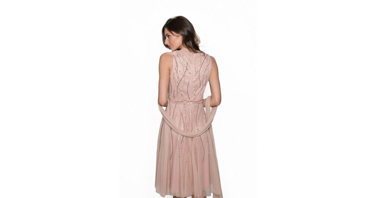 Bernshaw rachel pink dress