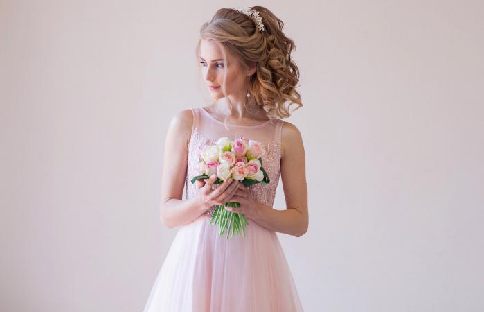 Pink summer dresses weddings