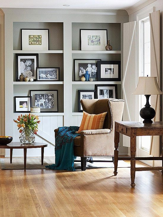 how to hang art without using nails Image courtesy of Pinterest
