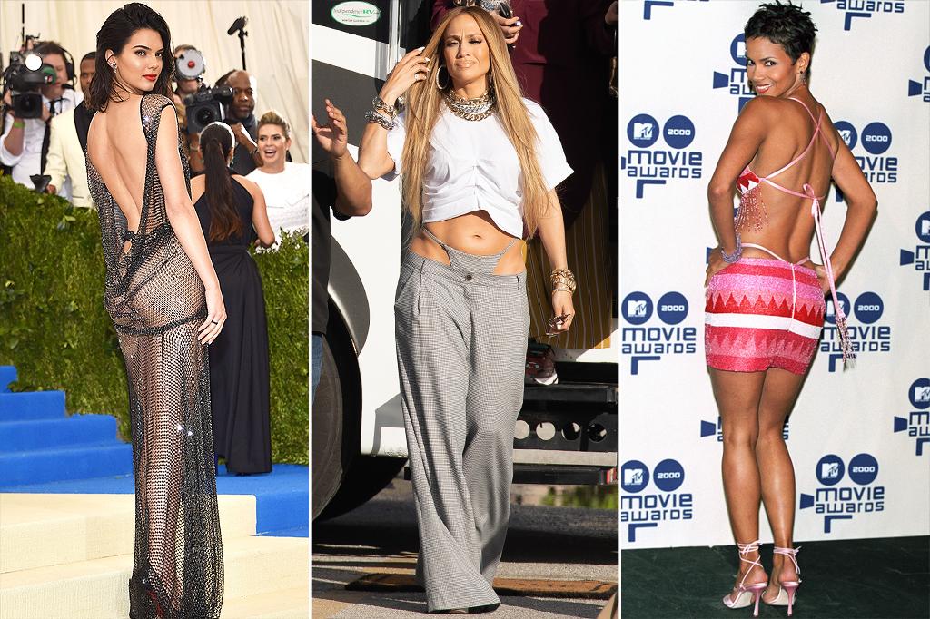 Celebrities wear thongs