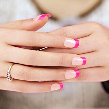 French nails with pink