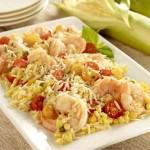 Summer Corn-Tomato-Basil Orzo Salad with Shrimp