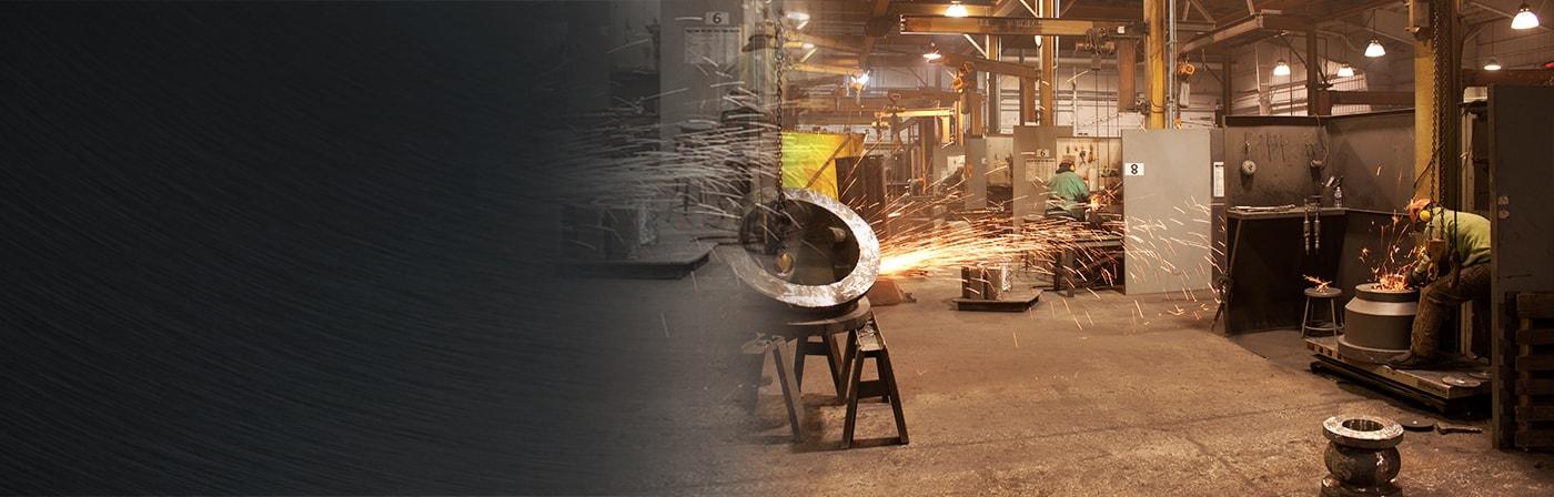 steel castings preperation area