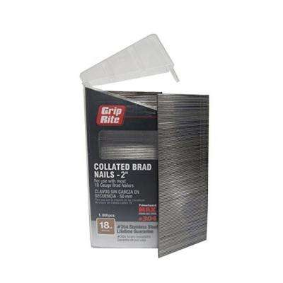 Grip rite collated finish nails