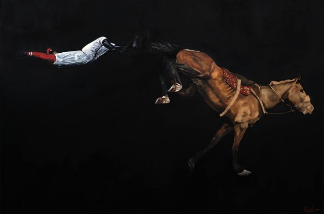 Clement Loisel - La chute, oil on canvas, 210 x 140 cm, 2015