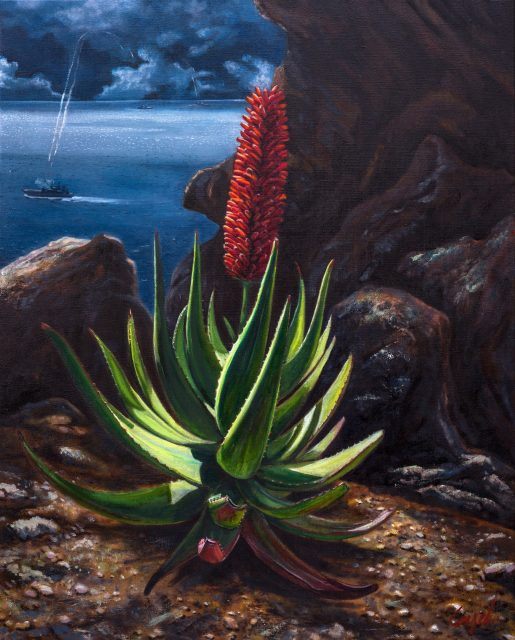 Clement Loisel - Aloe Vera, oil on canvas, 100 x 80cm, 2016