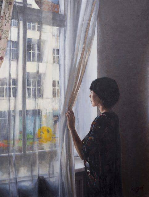Clement Loisel - Yuka at the window
