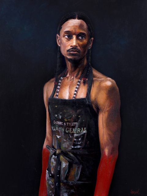 Clement Loisel - Self portrait as a black man