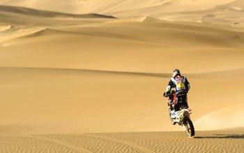 гонщик,Мотоцикл,rally,пустыня