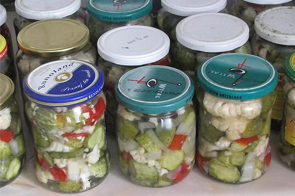 Рецепты капусты с огурцами на зиму