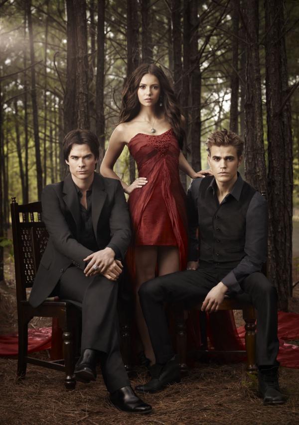 На фото: главные герои «Дневников вампира»