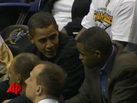 Barack obama at wizards game