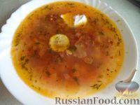 Фото к рецепту: Солянка с курицей и охотничьими колбасками