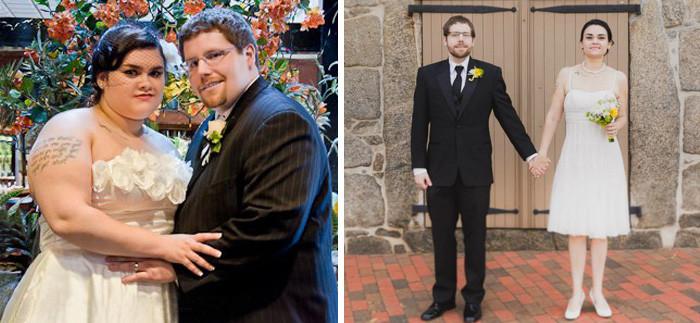 15. Похудели к 4 годовщине свадьбы. Муж сбросил 59 кг, а жена - 49 кг