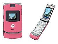 Motorola razr v3 satin pink