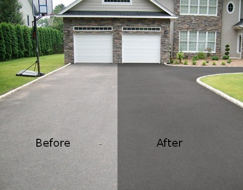 How long to stay off driveway after sealing