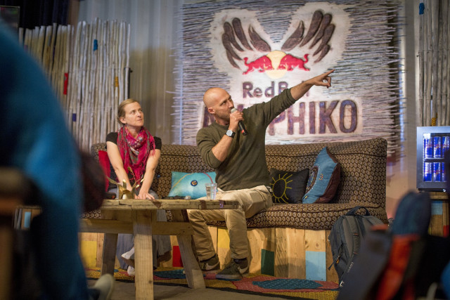 Creative Director Conn Bertish shares some insights with participants at the previous Amaphiko Academy
