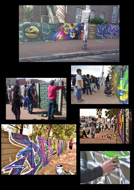 """We teamed up with the Dept. of Health Joburg and started to help clean up the """"South"""" – Rosettenville Johannesburg."""