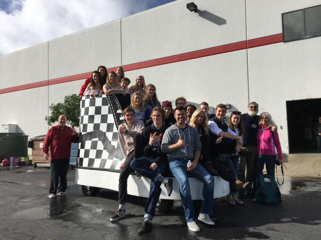 We create meaningful extension opportunities for our students. Here some of our students prepare for a ride with Steve Van Doren (the God Father of Vans)!!!