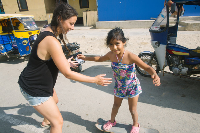 A holistic approach to development includes surfing, skating, women and girls!