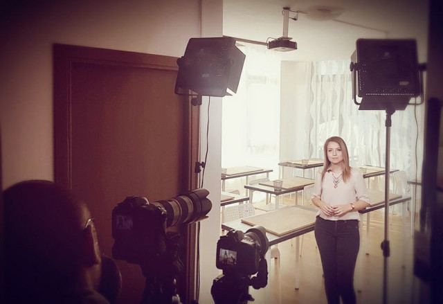 Shooting in our classroom for BCR promotion within Start-up nation Romania programme.