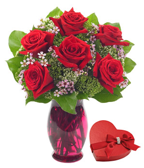 Rose Garden Bouquet with Chocolates