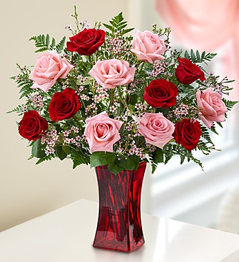 Shades of Pink and Red Premium Roses