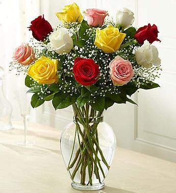 Rose Elegance Premium Long Stem Assorted Roses