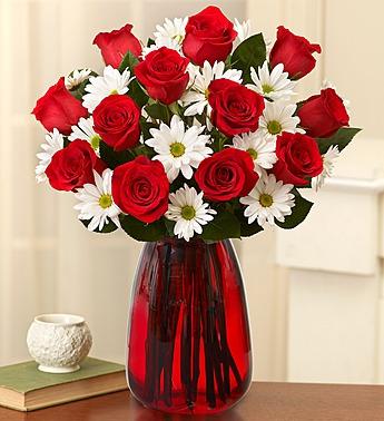 Fair Trade Red Roses & Daisies