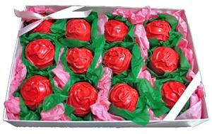 Cake Truffles - Rose Design, Gift Box of 12